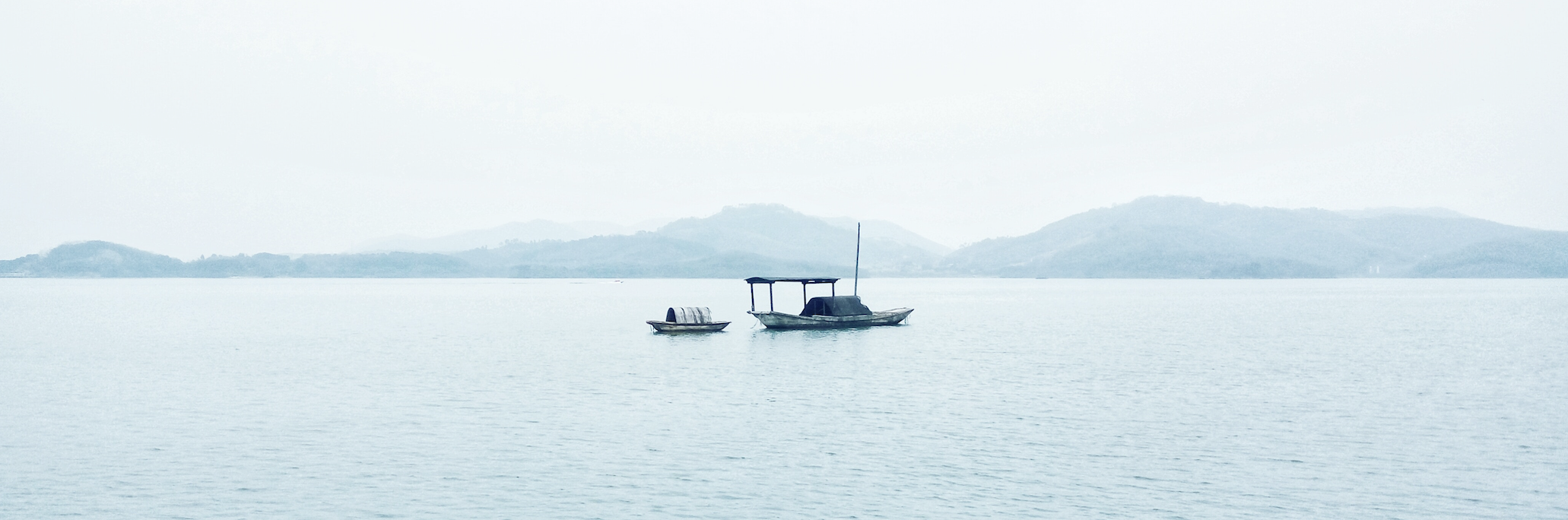 Small boat on a lake