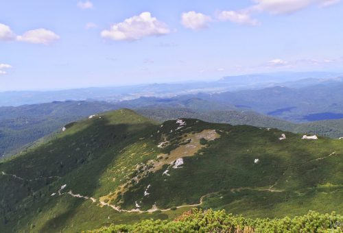 View from the top of Mount Sneznik in Slovenia